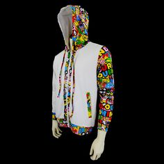White awesome hoodie for men, you can fin more hoodies right here : www.YourMindYourWorld.com Rave Outfits Men, Cool Glow, Rave Costumes, Glow Party, Cool Hoodies, White Hoodie, Festival Fashion, Things To Buy, Edm