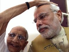Narendra Modi with your mother.