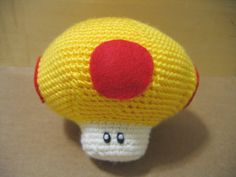 Golden Mega Mushroom by lealingo on Etsy