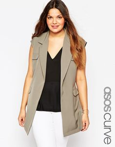 ASOS+CURVE+Sleeveless+Jacket