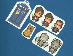 Doctor Who Sticker 7 Pack - Free US Shipping