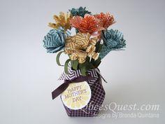 Origami Vase with Circle Framelits Flowers
