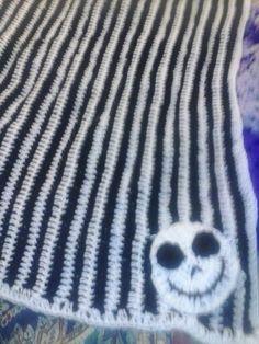 Nightmare Before Christmas Zero Crochet Baby Blanket I