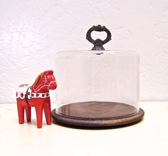 vintage cheese dome glass cloche by vintagebyalexkeller on Etsy, $19.99