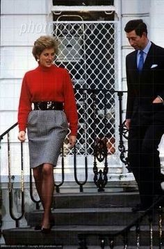 January 10, 1990: Prince Charles & Princess Diana taking Prince William & Prince Harry to Wetherby school in Notting Hill.