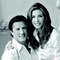 Actor Sylvester Stallone and wife Jennifer Flavin