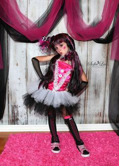 Draculara Monster High inspired tutu set.......Fabulous for Halloween,photo props and dress up on Etsy, $69.99