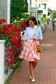 Edgartown, Martha's Vineyard Preppy summer outfit