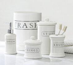 Ceramic Text Bath Accessories