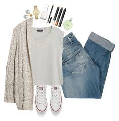 Saturday night by brooklm on Polyvore featuring polyvore mode style Violeta by Mango MANGO Pepe Jeans London Kate Spade Mikimoto Forever 21 Converse NYX Chanel Essie fashion clothing