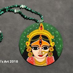 The Green Durga Pendant