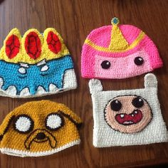 Adventure time crochet hats   a sus ordenes estos modelitos