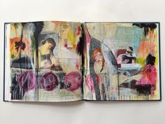 revealing journal spread - by bun - artist: roxanne coble