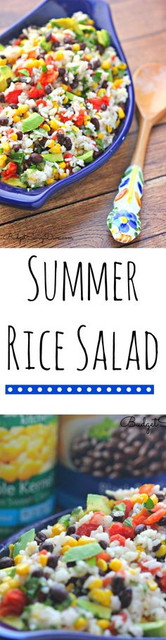 Summer Rice Salad Recipe #cansgetyoucooking - perfect recipe for the summer. Gluten friendly! AD