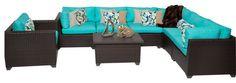 2017 Sofa Furniture 8 Piece Outdoor Wicker Patio Furniture Corner Set