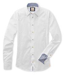 Q1 Hemd Premiumhemd Walter Qxford in Weiß in 100% Baumwolle Vollzwirn Slim Fit, Shirt Dress, Mens Tops, Shirts, Shopping, Dresses, Fashion, Cotton, Vestidos