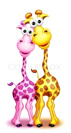 Giraffe Pictures, Cute Cartoon Pictures, Funny Animal Pictures, Cute Pictures, Funny Animals, Cute Animals, Cute Animal Drawings, Cartoon Drawings, Cartoon Art