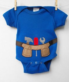 Tool Belt Onesie 3 to 6 months by ClaireBearBaby on Etsy, $18.00