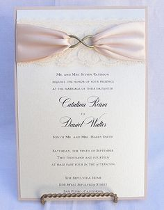 INFINITY 2 Lace Wedding Invitation Vintage by LavenderPaperie1, $562.50