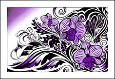 Orchids I | Original artwork | Fine-liner on fabriano paper