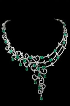 Enerald and Diamond Necklace
