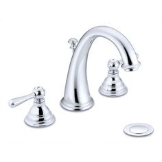 Master bathroom (fave): $214 at Wayfair - Kingsley Double Handle Widespread Bathroom Faucet with Optional Pop-Up Drain