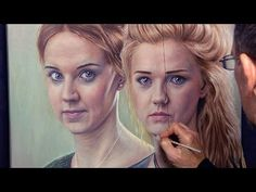 Sisters - a double portrait in oils