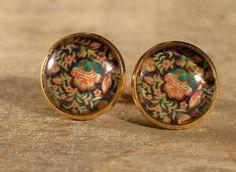 Boucles d'oreilles boutons cabochons de verre par MrAndMrsBeaver Cabochons, Rings For Men, Vintage, Etsy, Jewelry, Buttons, Ears, Unique Jewelry, Boucle D'oreille