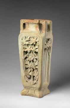 Vase. Maker: Georges Hoentschel (French, Paris 1855–1915 Paris). Date: ca. 1890–1900. Culture: French, Saint-Amand-en-Puisaye Medium: Stoneware.