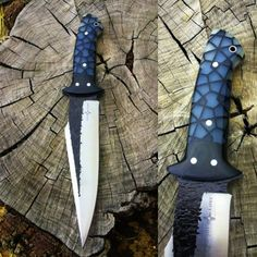 Semi Custom Handmade Black Thorn Knife by Joe Loui Knives