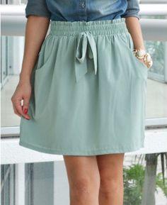 #loveshoppingmiami.com    #Skirt                    #Dania #Mint #Front #Skirt                          Dania Mint Bow Front Skirt                                                    http://www.seapai.com/product.aspx?PID=408832