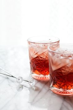 St. Germain & Cassis Gin and Soda