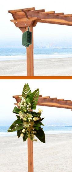 Wedding Flower Arch - Easy Step by Step Flower Tutorials Church Wedding Flowers, Florist Supplies, Corsage Wedding, Groom Boutonniere, Bridezilla, Flower Tutorial, Wedding Decorations, Wedding Ideas, Flower Arrangements