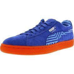 Puma Suede Classic+ Stripes Women US 6.5 Blue Sneakers. Puma Women's Classic  + Stripes Suede Dazzling Blue/Marina Blue/Grenadine ...