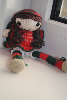 """crochet amigurumi pattern Star the little christmas elf. $4.50, via Etsy."" #Amigurumi  #crochet"