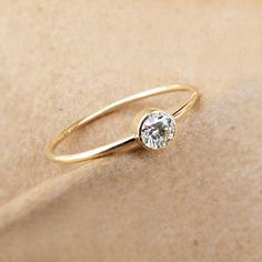 Diamond Engagement Ring Simple Engagement Ring 18k by artemer, $480.00