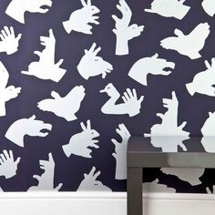 'Hand Made' boy's purple wallpaper lifestyle