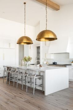 4 Lighting Ideas From Dream Home Makeover - Studio McGee Wooden Dining Chairs, Dining Nook, Kitchen Dining, Room Kitchen, Kitchen Ideas, Küchen Design, House Design, Interior Design, Design Ideas