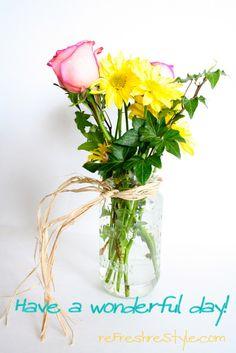Floral In A Mason Jar