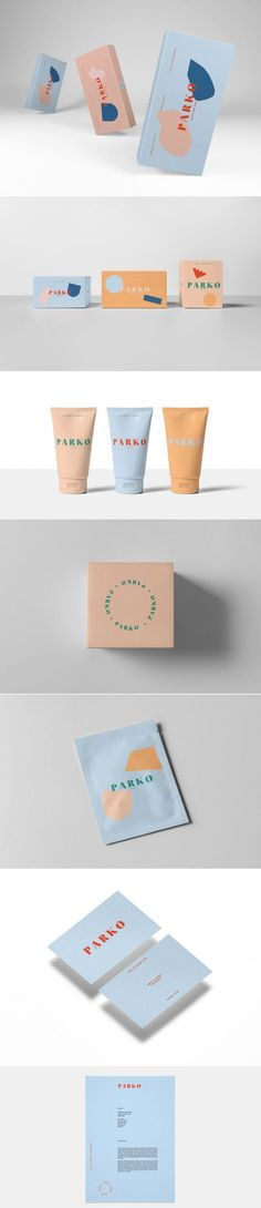Parko is Bringing Freshness To Your Skin — The Dieline Packaging & Branding Design & Innovation News Web Design, Logo Design, Brand Identity Design, Label Design, Branding Design, Package Design, Cool Packaging, Paper Packaging, Print Packaging