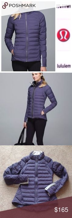 Lululemon fluffed  up jacket In excellent condition. No defects found. Worn probably just twice. Tag got cut off but this is a size 6.                                  h lululemon athletica Jackets & Coats