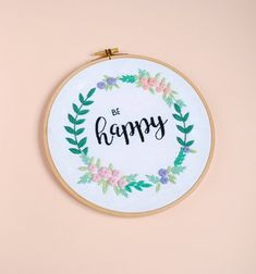 Included in your embroidery PDF pattern file: Hand Embroidery Art, Embroidery Needles, Floral Embroidery, Diy Embroidery For Beginners, Flower Art, Wall Art Decor, Hoop, Diy Projects, Pdf