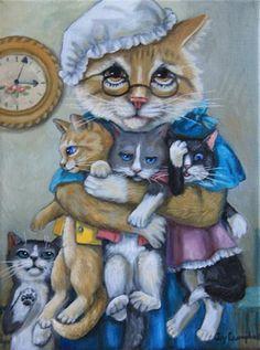 """NapTime"" - Original Fine Art for Sale - © Joy Campbell"