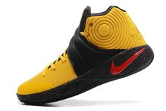 low priced f63d0 fc9d0 New Nike Kyrie 2 II ID Signature Bruce Lee Sonic Yellow Black University Red  Nike Kyrie 2 Basketball Shoes For Sale