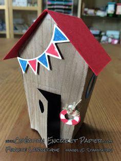 Stampin'Up! 3D maisonnette Thinlits Doux Foyer / Home Sweet Home www.creationencreetpapier.com