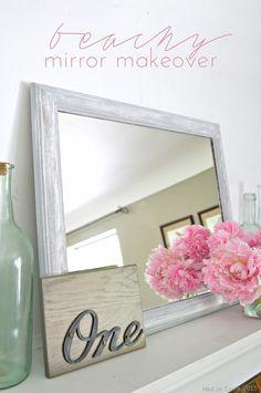 Beachy Mirror Makeover