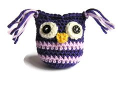 Crochet owl purple and lilac  amigurumi. by Christinescraftbox, £3.00