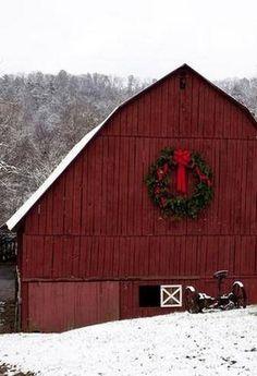Snowy Red Barn .....