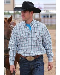 Items similar to Mens cinch western cowboy shirt on Etsy Western Store, Cowboys Shirt, Western Cowboy, Westerns, Kids Outfits, Plaid, Brand New, Shirt Dress, Couture