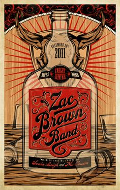 Zac Brown Band concert poster, by Amelia LeBarron Zac Brown Band Songs, Zac Brown Band Concert, Rock Posters, Band Posters, Concert Posters, Music Posters, Event Posters, The Weeknd Albums, Country Girl Quotes
